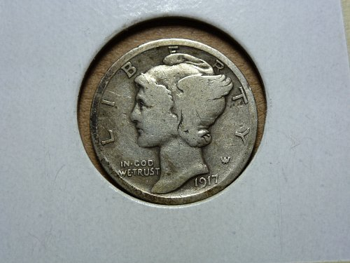 1917 S VG Mercury Dime