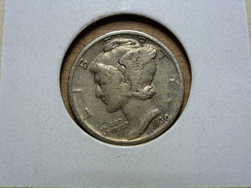 1930 P VF Very Fine Mercury Dime