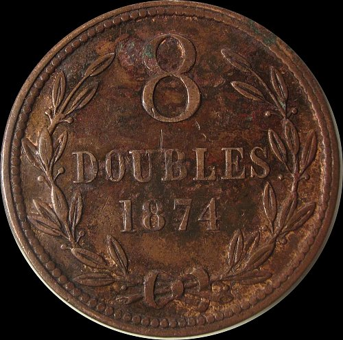 Guernsey 1874H 8 Doubles