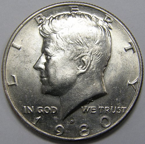 1980 D Kennedy Half Dollar #1