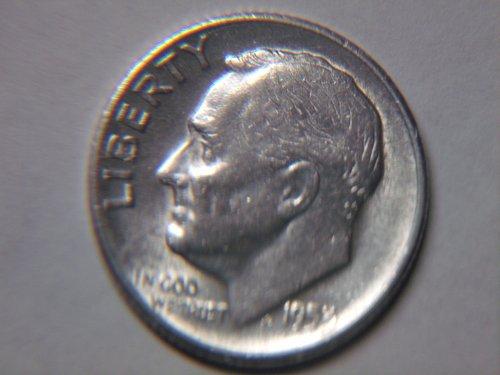 1953 S Roosevelt Dime