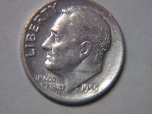1955 S Roosevelt Dime