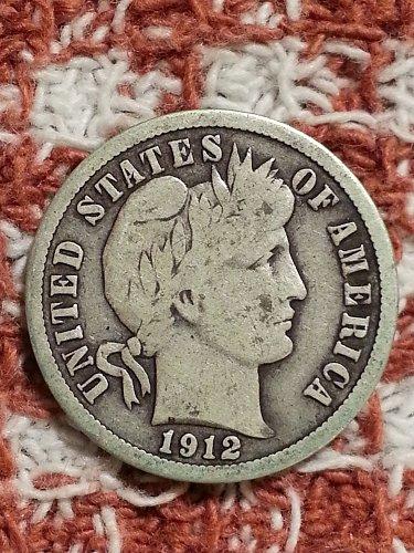 1912-S Barber Dime