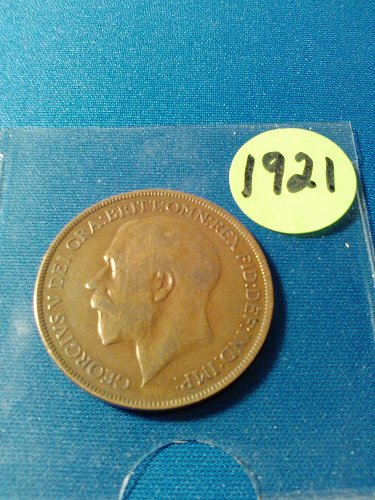 1921 BRITISH LARGE PENNY