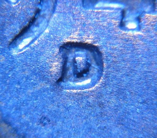1949 D LINCOLN WHEAT CENT RPM 007 REPUNCHED MINT MARK ERROR