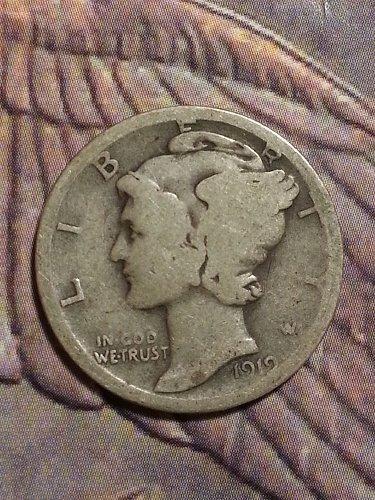 1919-D Mercury Dime