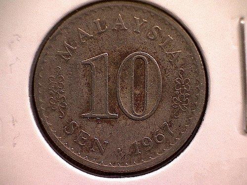 1967 MALAYSIA TEN SEN