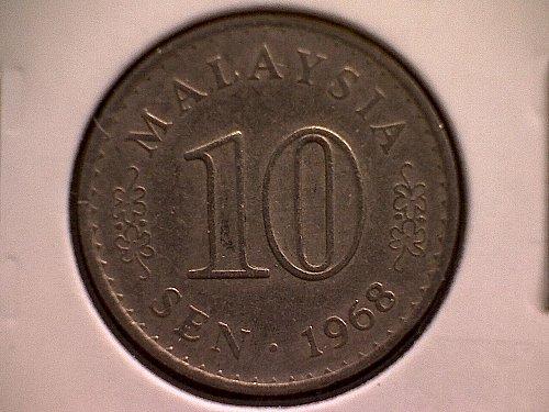 1968 MALAYSIA TEN SEN