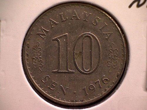 1976 MALAYSIA 10 SEN