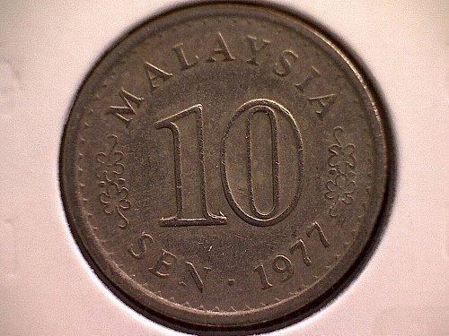 1977 MALAYSIA TEN SEN