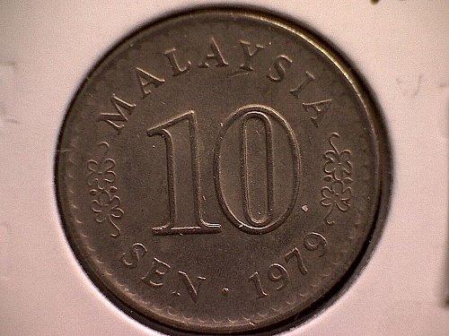1979 MALAYSIA TEN SEN