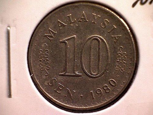 1980 MALAYSIA  TEN SEN