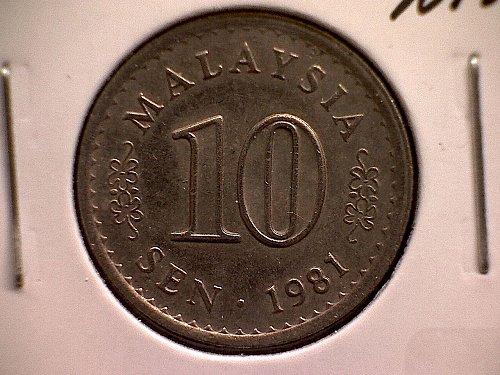 1981 MALAYSIA TEN SEN
