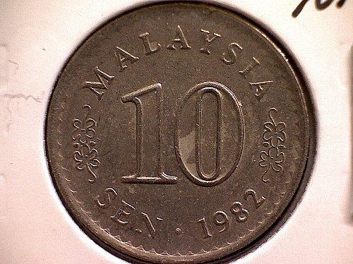 1982 MALAYSIA TEN SEN
