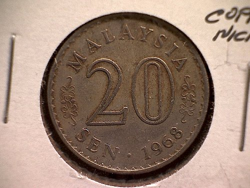 1968 MALAYSIA TWENTY SEN