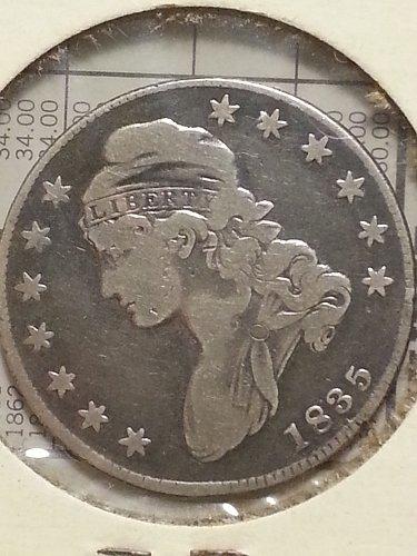 1835 Bust Half