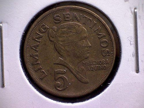 1967 PHILIPPINES FIVE SENTIMOS