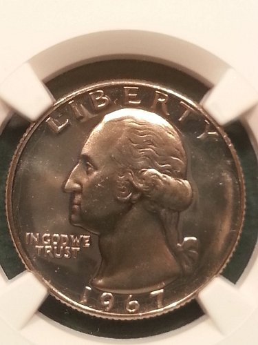 1967 SMS Washington Quarter MS-67