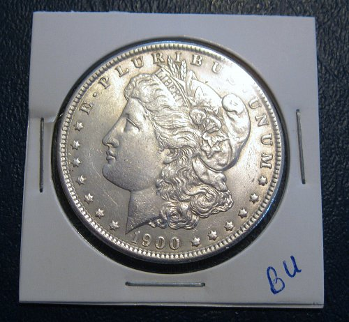 1900 MORGAN SILVER DOLLAR, NICE B.U. MS+++