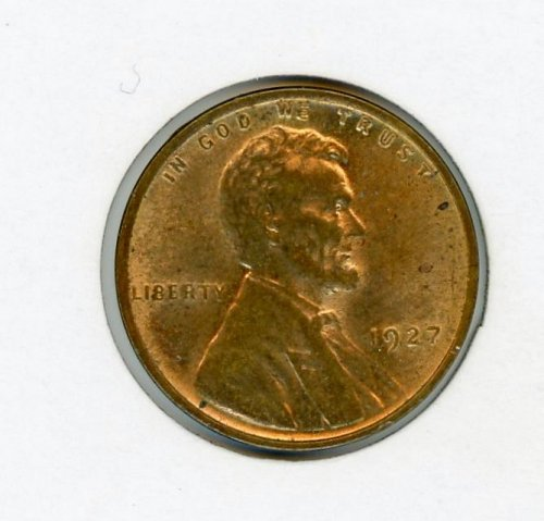 1927-P Brilliant Uncirculated Lincoln Cent MS-62 Lots of Remaining Luster