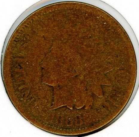 1868 Indian Head Cent Very Good #8
