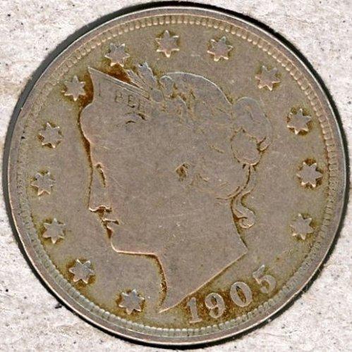 "1905 Liberty Nickel in VF-20 Full LIBERTY ""I"" is weak #191"