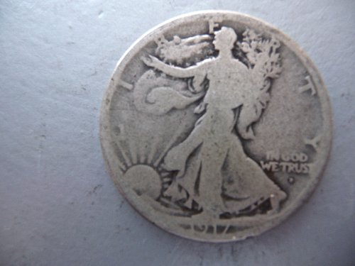 1917-D (OBV) Walking Liberty Half Dollar