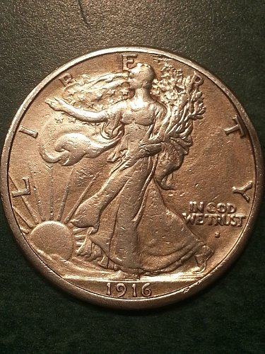 1916-S Walking Liberty Half