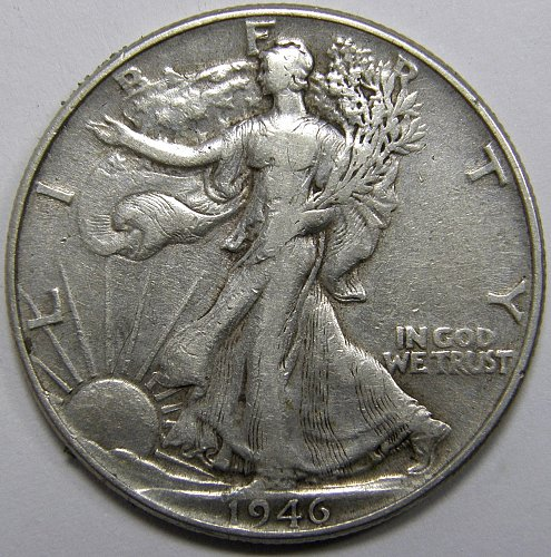1946 P Walking Liberty Half Dollar #1