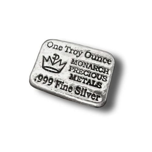 1 oz Hand Poured  Monarch Silver Bar | Brand New Item