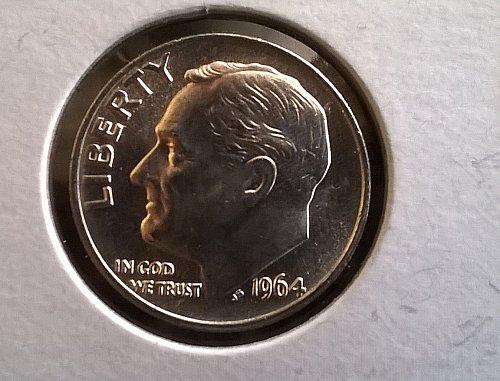 1964 Silver Roosevelt dime BU! Gem!