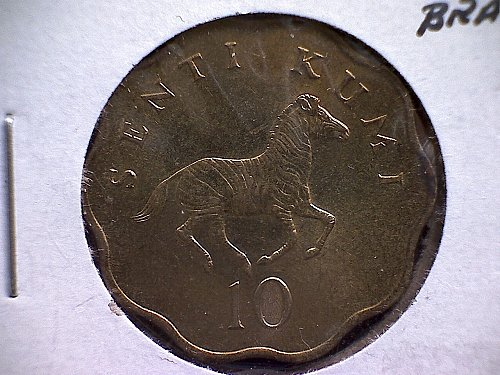 1984 TANZANIA  TEN SENTI