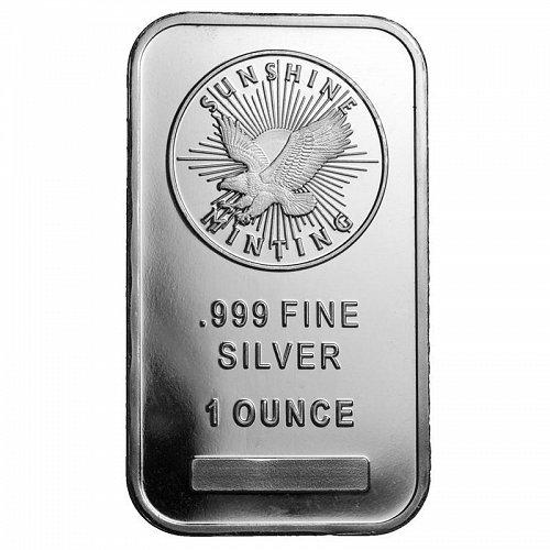 1 oz Sunshine Silver Bar | New