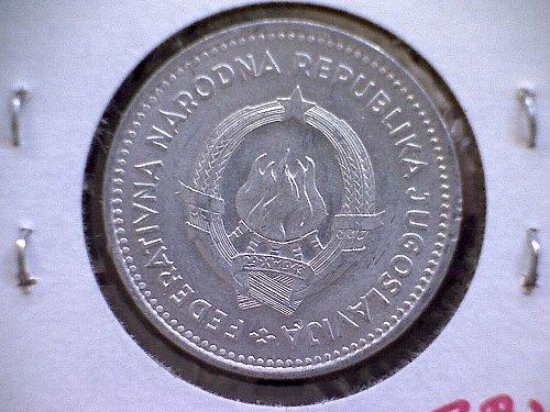 1953 YUGOSLAVIA TWO DINARA