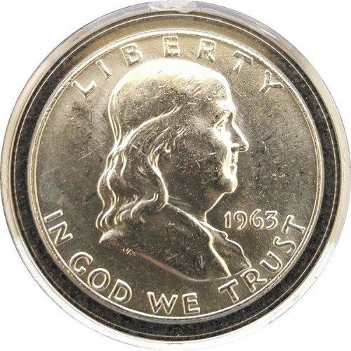 1963 D Franklin Half Dollars Liberty Bell BU In Coin Slab