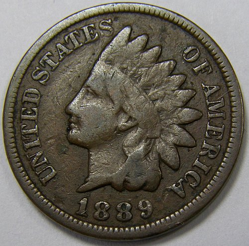 1889 P Indian Head Cent #8