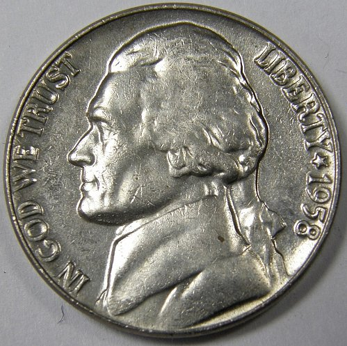 1958 P Jefferson Nickel #1