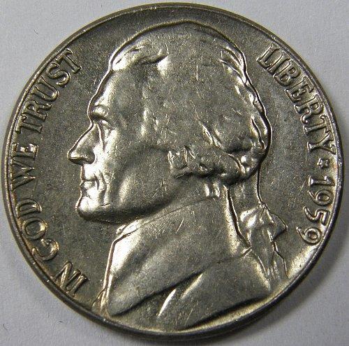 1959 P Jefferson Nickel #2