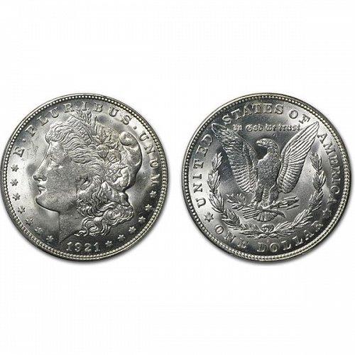 1921 S Morgan Silver Dollar - BU