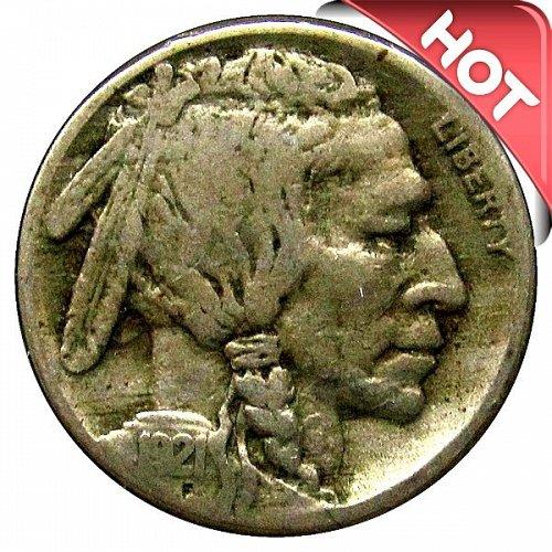 1921 S Buffalo Nickel - VG