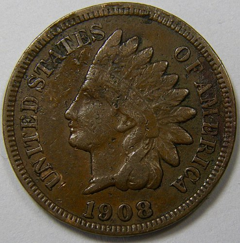 1908 P Indian Head Cent #10