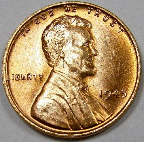 1945 P Lincoln Wheat Cent #1