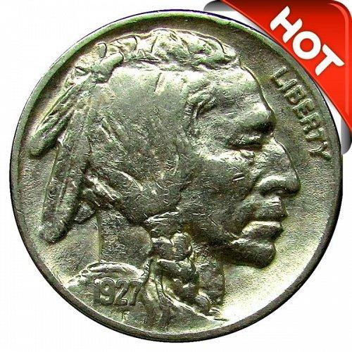 1927 Buffalo Nickel - AU
