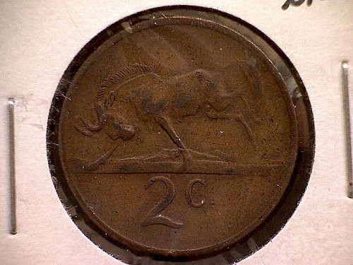 1969 AFRICA TWO CENTS