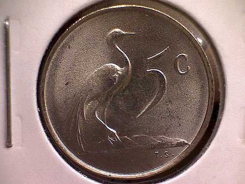 1965 AFRICA FIVE CENTS