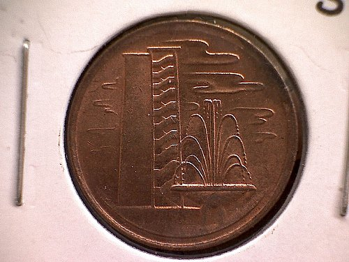 1981 SINGAPORE ONE CENT