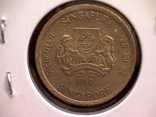 1989 SINGAPORE FIVE CENTS