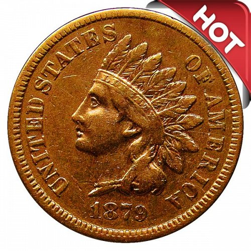 1879 Indian Head Cent - XF
