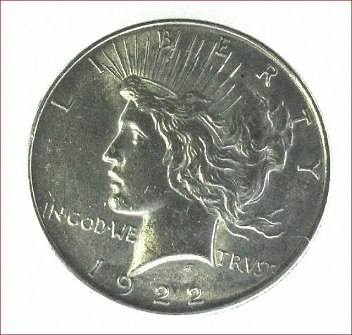 Peace Dollar 1922  MS-60 to 55