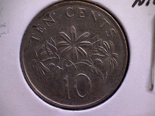 1991 SINGAPORE TEN CENTS